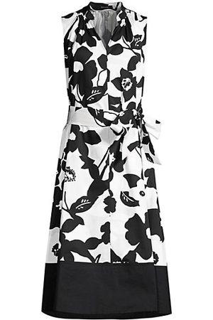 Natori Women Sleeveless Dresses - Anemone Garden Mandarin Dress