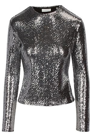 7 for all Mankind Women Long Sleeve - Long-Sleeve Sparkle Top