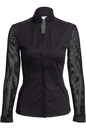 AKRIS Women Blouses - Elements Mesh-Sleeve Blouse