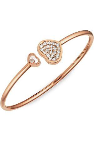 Chopard Happy Hearts 18K Rose & Diamond Bangle