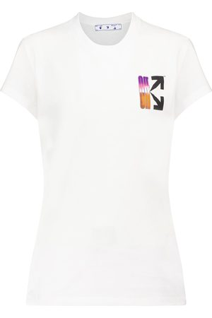 OFF-WHITE Logo cotton jersey T-shirt