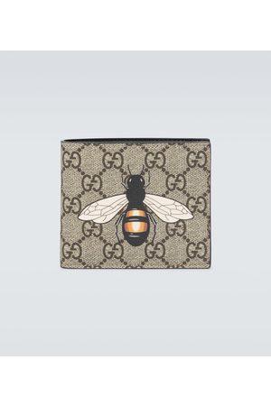 Gucci Bee printed GG Supreme wallet