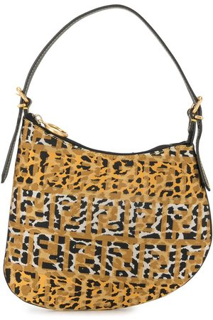 Fendi FF leopard print shoulder bag