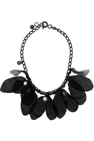 Lanvin Feather embellished necklace