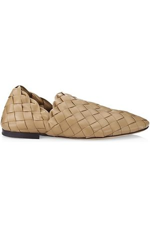 Bottega Veneta The Slipper Intreccato Leather Slip-On Loafers