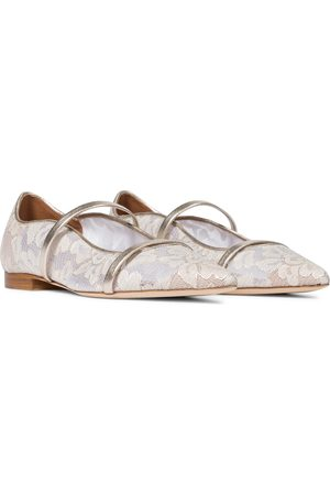 MALONE SOULIERS Exclusive to Mytheresa – Maureen floral lace ballet flats
