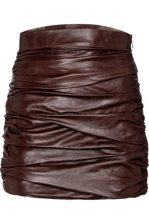 Zeynep Arcay High-rise leather miniskirt