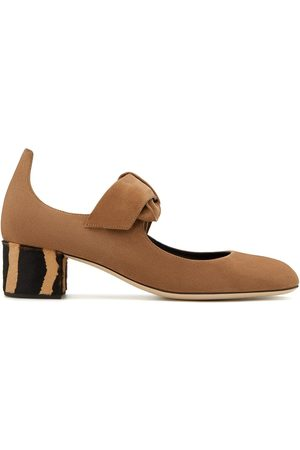 Giuseppe Zanotti Bow detail 40mm slip-on pumps