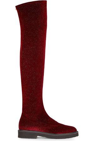 Giuseppe Zanotti Women Knee High Boots - Velvet over-the-knee boots
