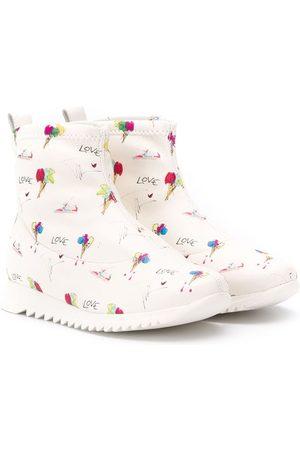 "Giuseppe Zanotti Boys Boots - ""Love"" printed boots"