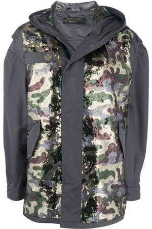 Mr & Mrs Italy Camouflage panel coat