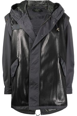 Mr & Mrs Italy Women Parkas - Panelled sequin-embellished parka