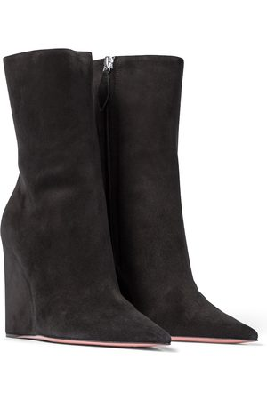 Amina Muaddi Pernille suede ankle boots