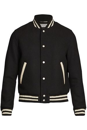Saint Laurent Teddy College Varsity Jacket
