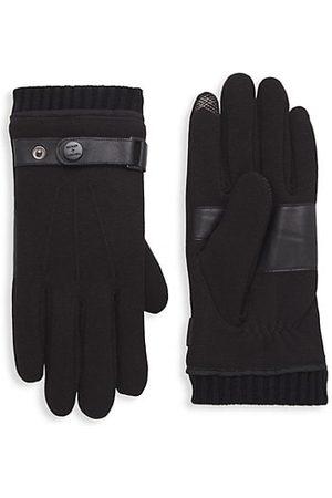 Bickley+Mitchell Leather-Trim Gloves