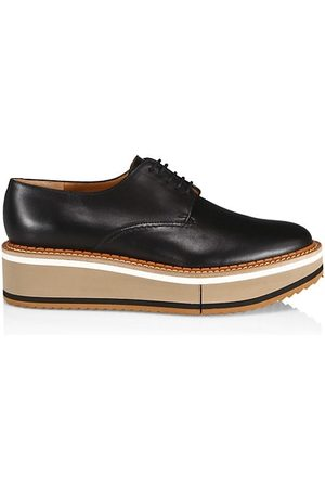 Robert Clergerie Loafers - Brook Leather Platform Wedge Derbies