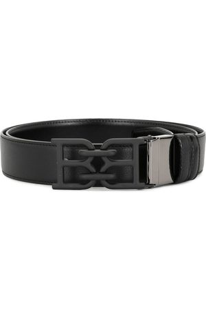 Bally Tonal B chain leather belt