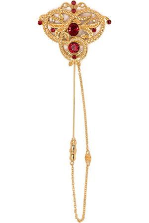 Dolce & Gabbana Embellished chain brooch