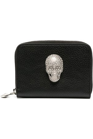 Philipp Plein Skull-detail zip-up purse