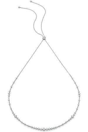 De Beers Jewellers 18kt white gold Arpeggia diamond choker and headband