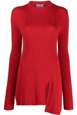 Kenzo Asymmetric-hem ribbed-knit jumper