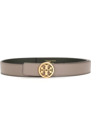 "Tory Burch 1"" reversible logo leather belt"