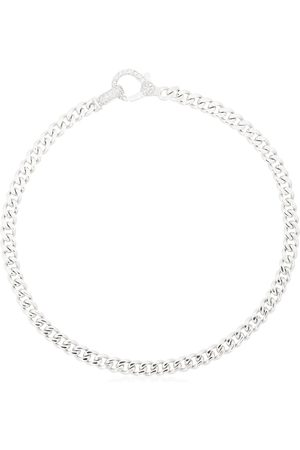 Shay 18K white gold flat-link diamond bracelet