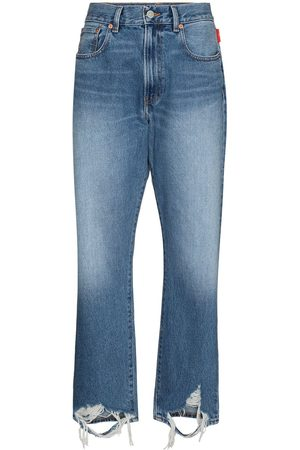 Denimist Stonewashed ripped detail jeans