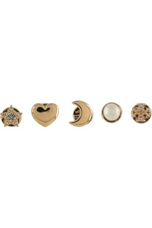 Tory Burch Pearl stud-embellished earring set