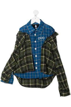 DUOltd Asymmetric plaid shirt