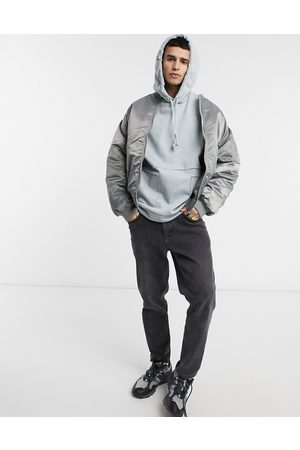 ASOS Oversized hoodie in with raw edge pockets