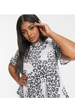 Yours Women Blouses - Smock blouse in leopard print