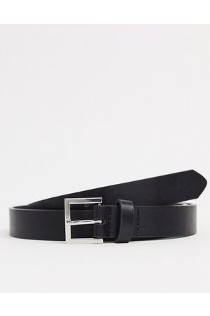 ASOS Skinny belt in faux leather with silver buckle