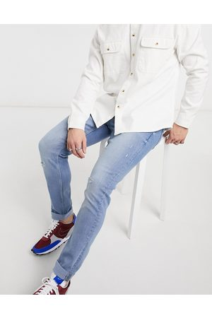 Only & Sons Slim jeans in light with rips