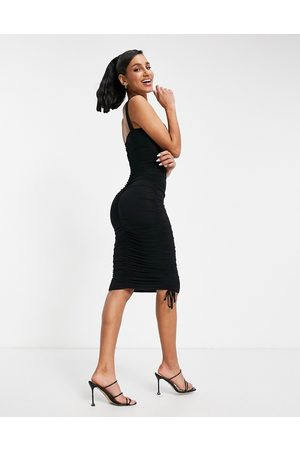 ASOS Ruched sweetheart bodycon midi dress in