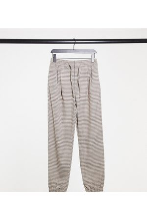 COLLUSION Unisex straight leg joggers in heritage check
