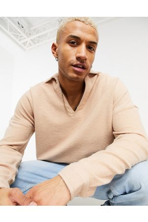 ASOS Overhead lounge shirt in towelling
