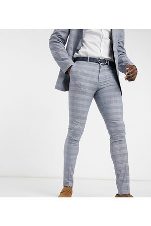 ASOS Tall super skinny suit trousers with prince of wales check in