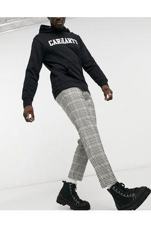 Burton Tapered mini check crop trousers in
