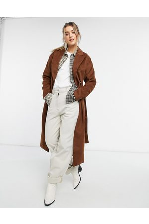 New Look Belted maxi coat in