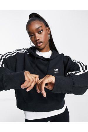 adidas Adicolor cropped hoodie in