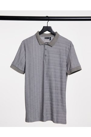 ASOS Muscle polo shirt with splice in textured fabric