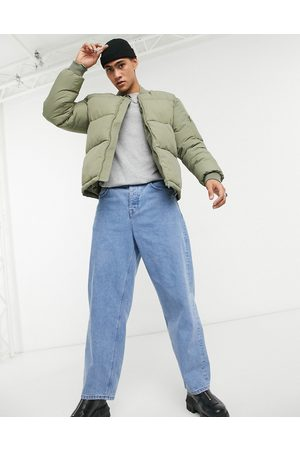 ASOS Puffer bomber jacket with MA1 pocket in