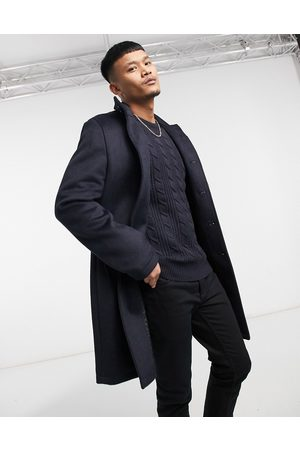 ASOS Wool mix overcoat with funnel neck in
