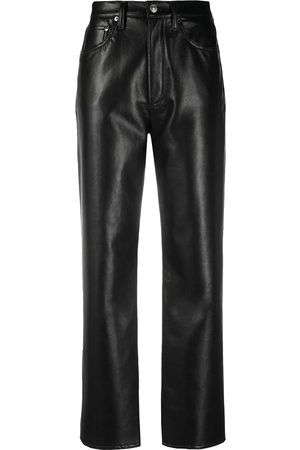 AGOLDE High-waisted leather trousers