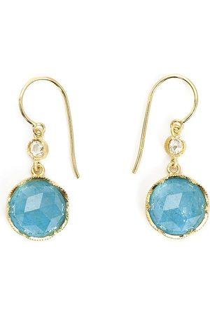Irene Neuwirth 18kt gold aquamarine drop earrings