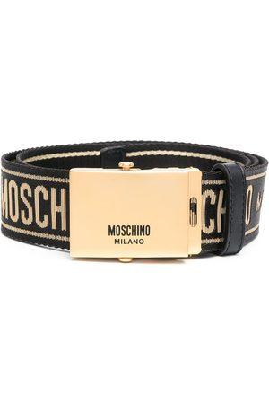 Moschino Grosgrain logo belt