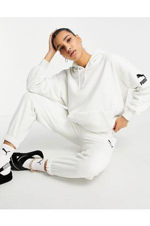 PUMA Fleece hoodie in off white