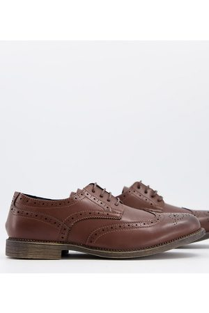 Truffle Collection Truffl Collection wide fit formal lace up shoes in