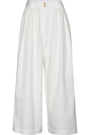 Etro Stretch-cotton wide-leg pants